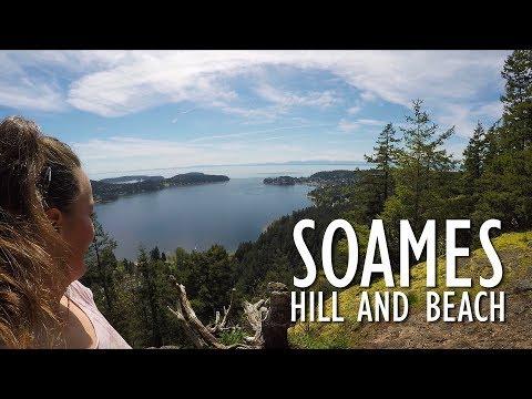 Soames Hill And Beach, Sunshine Coast, BC, Canada