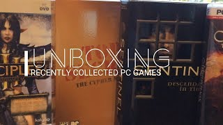 Unboxing Recently Collected PC Games