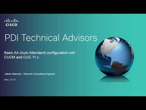 How to configure an Auto-Attendant with CUC 11.x