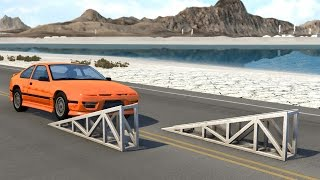 BeamNG drive - Alternated Ramps car Crashes