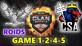 World of Tanks - ROIDS vs CSA - CLAN SUPER CUP - GAME 1-2-4-5