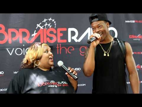 108PraiseRadio on location with Angela Foxworth Interviewing