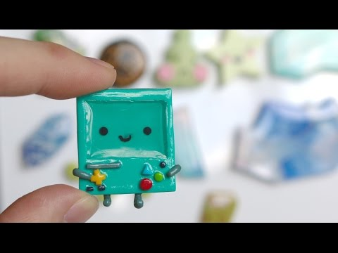 BMO Resin/Clay Magnet Tutorial