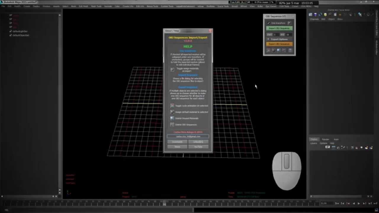 Autodesk Maya Tool - OBJ[I/O]