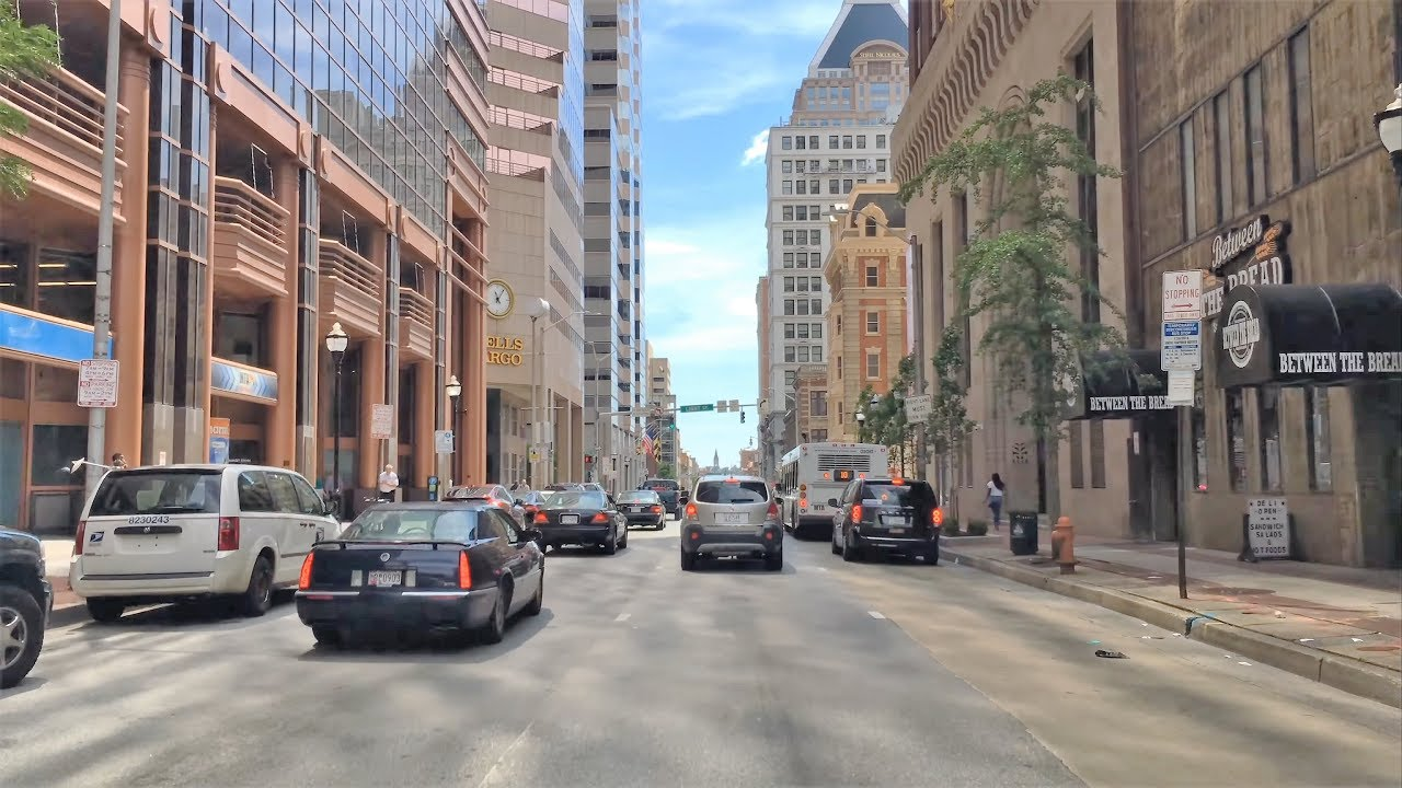Driving Downtown 4k Baltimores Main Street Usa Youtube