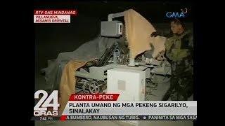 Planta umano ng mga pekeng sigarilyo, sinalakay