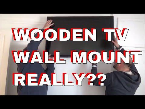 Redneck Wooden TV Wall Mount Bracket - DOES IT WORK?