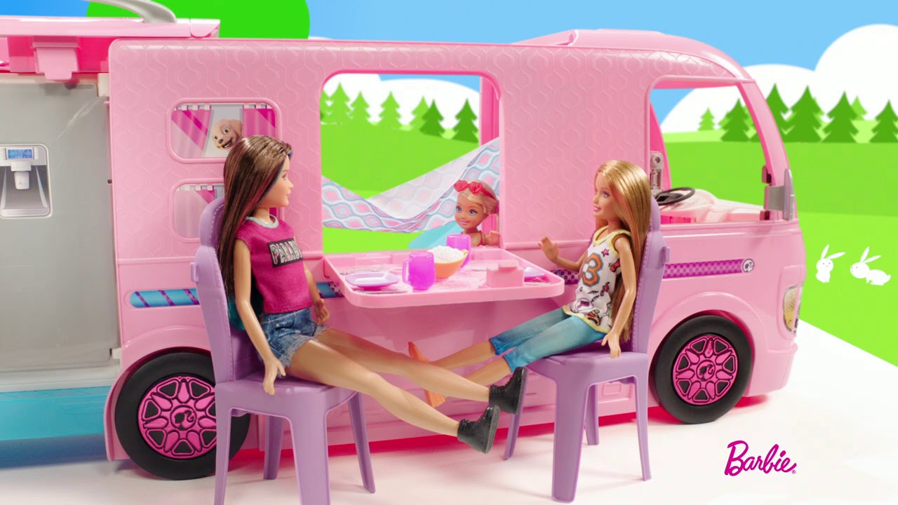 camping car transformable barbie youtube. Black Bedroom Furniture Sets. Home Design Ideas