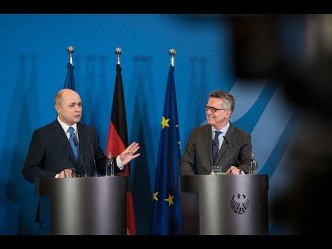 De Maizière empfängt den neuen französischen Amtskollegen Bruno Le Roux