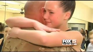 Army Sergeant Surprises Daughter In Dance Class For Thanksgiving
