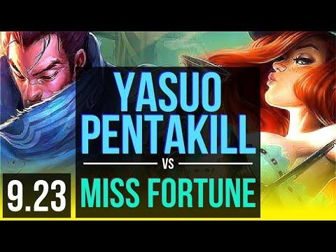 YASUO & Nautilus vs MISS FORTUNE & Rakan (ADC) | Pentakill, Rank 1 Yasuo | EUW Challenger | v9.23