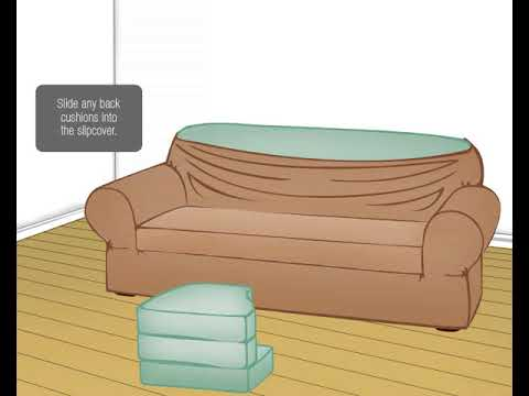 Maytex Smart Cover 2 Piece Slipcover Youtube