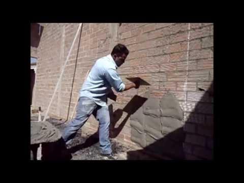 Como rebocar f cil e r pido sem se esfor ar muito youtube - Como colocar ladrillos en una pared ...