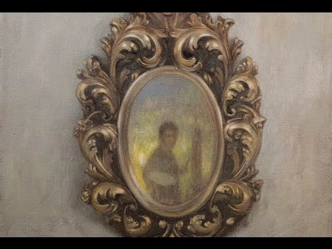 """oil painting live stream """"old mirror"""" 3"""