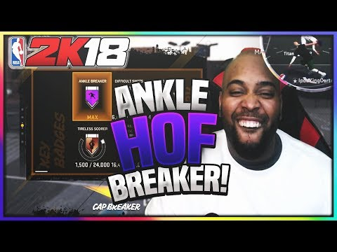 I GOT HALL OF FAME ANKLE BREAKER! NBA 2K18 2V2 Gameplay - First YouTuber To Unlock This Badge Solo