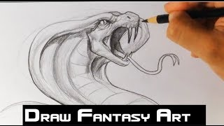 How to Draw a Snake - Draw Fantasy Art