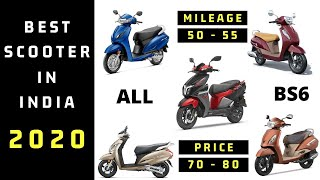 Best Mileage And Performance Scooters In India || Best Scooty In India 2020 Under 80000 ??