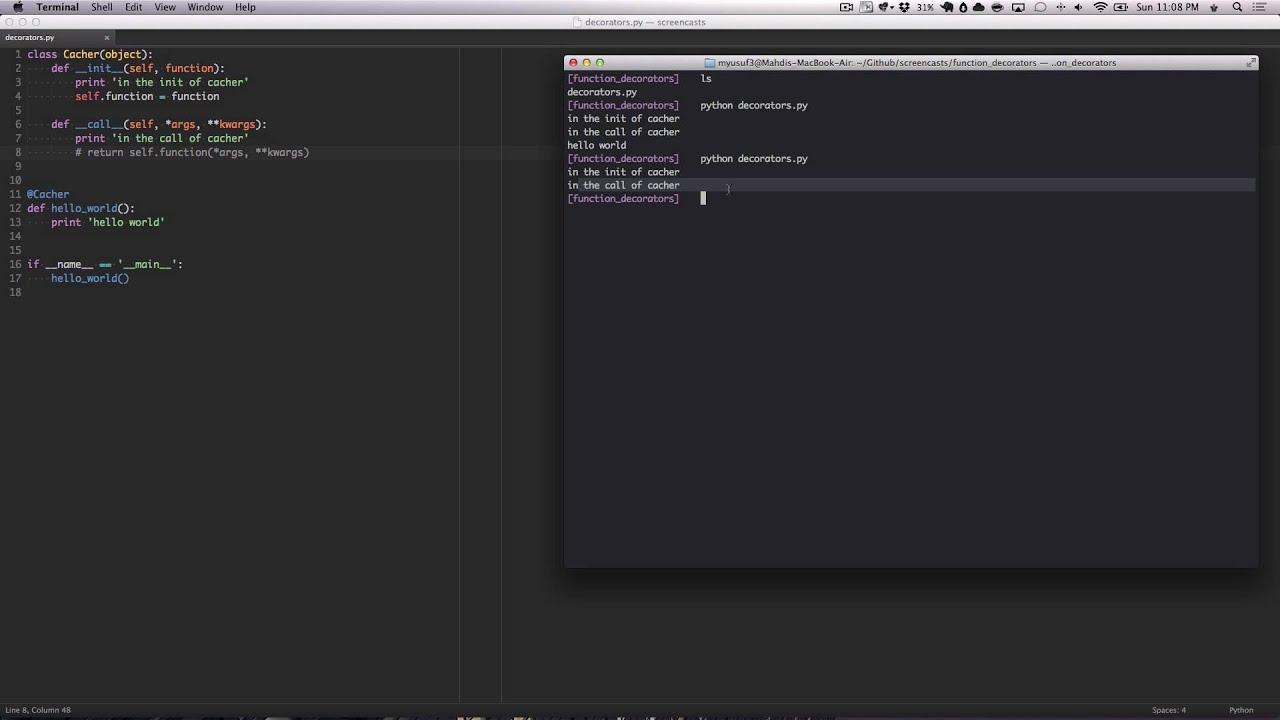 Python decorators as classes youtube for Decorator python
