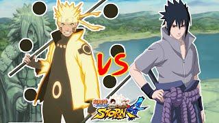 naruto shippuden ultimate ninja storm 4 naruto sabio 6 sendas vs sasuke rinne sharingan