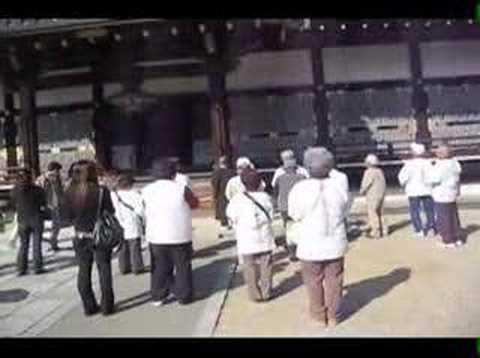 Shingon Buddhist Pilgrims Praying at Ninnaji