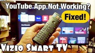 Youtube App Not Working On Vizio Smart Tv Fixed Youtube