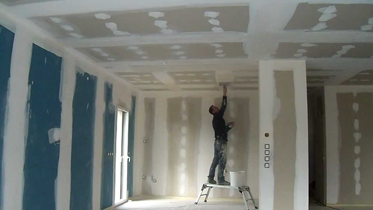Ratissage plafond youtube for Poncer un plafond en placo