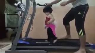 funny video of child exercise in gym thumbnail