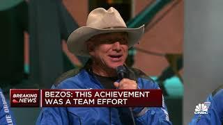 Jeff Bezos on spaceflight: This achievement was a team effort