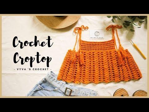 Crochet Croptop |Hướng Dẫn Móc áo Croptop 2 Dây Dáng Xòe ĐI BIỂN |Vyvascrochet