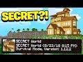 I FOUND My Little Brother's *SECRET* Minecraft PE World!