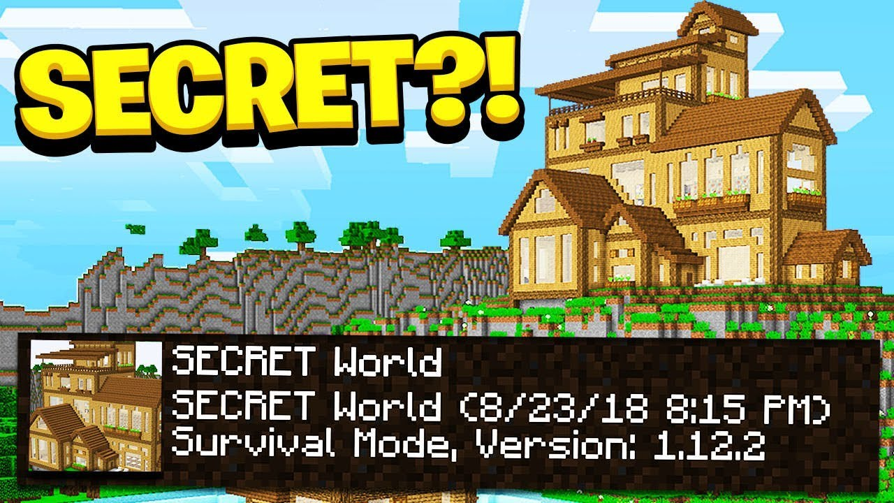 I FOUND My Little Brother's *SECRET* Minecraft PE World!