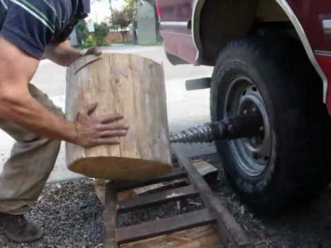 New Way Ford >> Ford V-8 powered death woodsplitter - YouTube