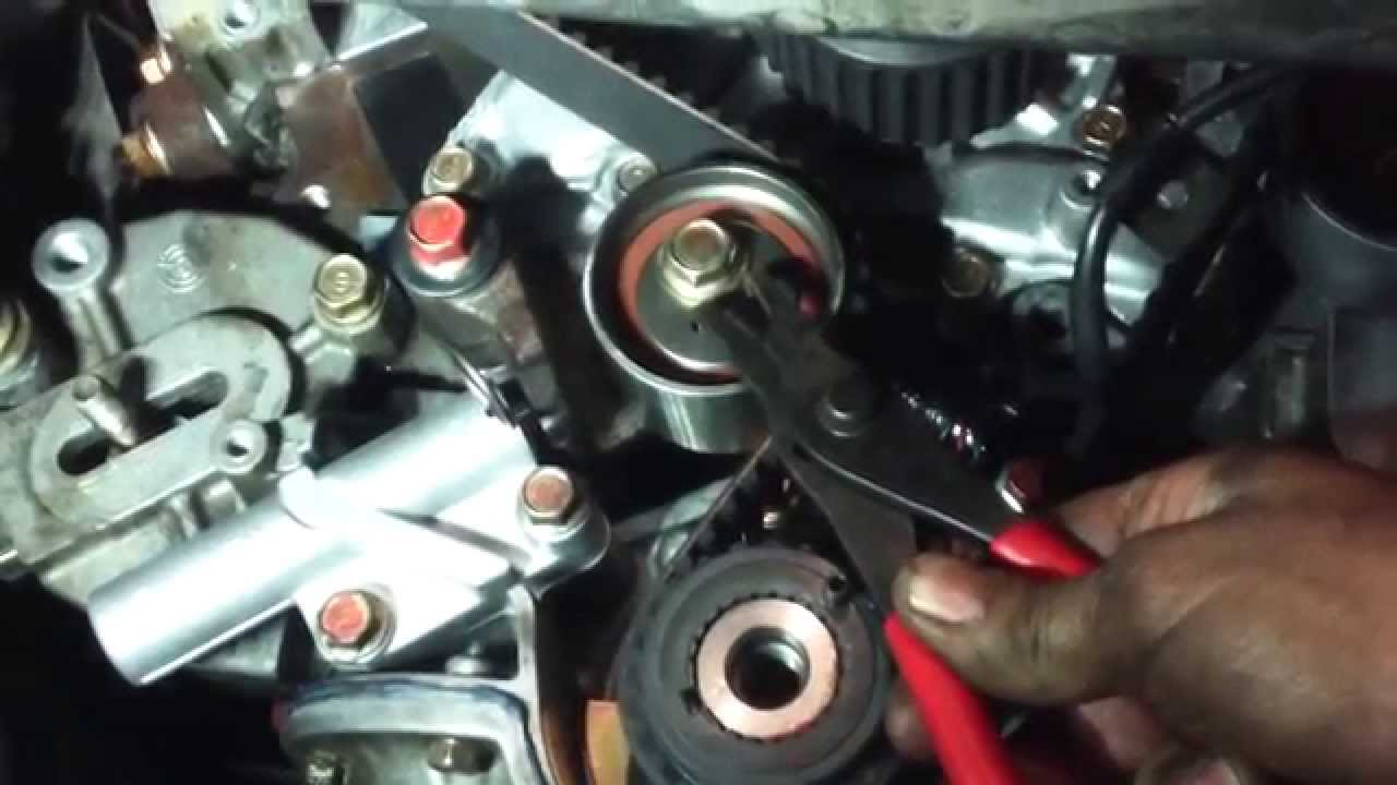 medium resolution of timing belt replacement mitsubishi diamante 3 5l v6 1997 2004 water pump install remove replace youtube