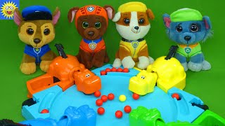 Paw Patrol Toys Play Hungry Hungry Hippos Games Learning Videos For Kids Teaching Colors & Counting