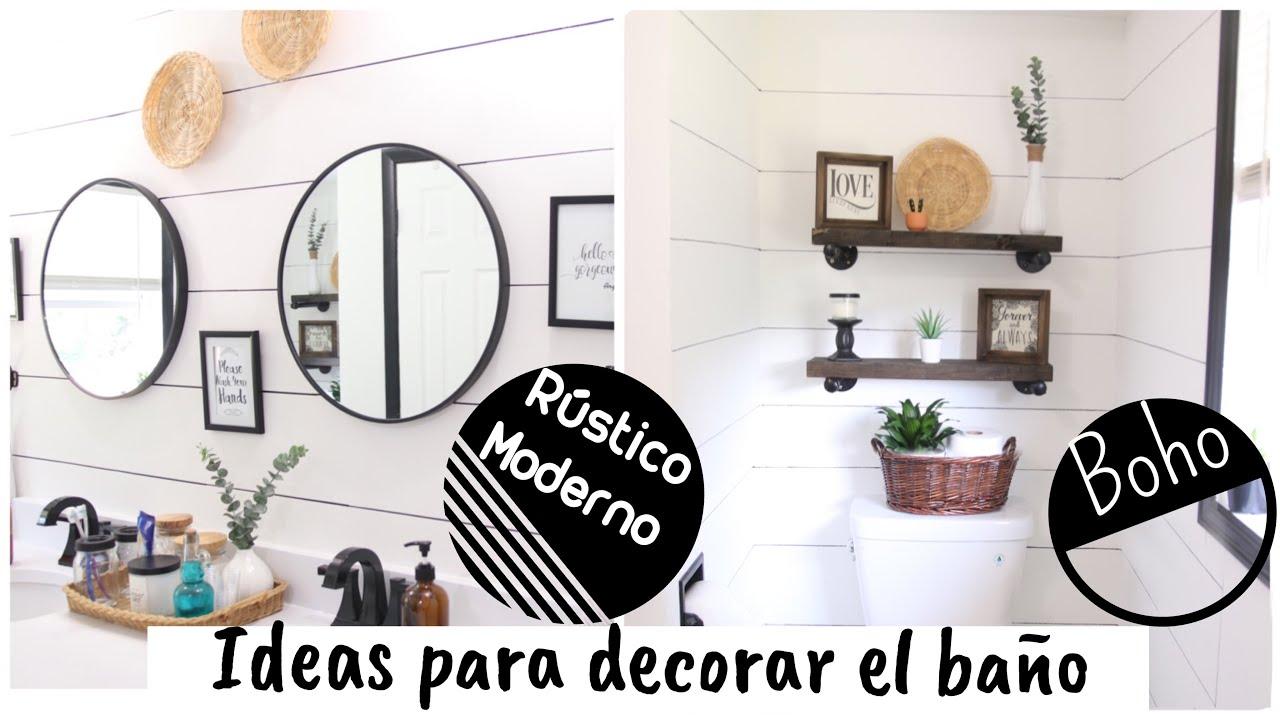 Ideas para decorar un baño rústico moderno | Boho | Decoraciones para el hogar | bathroom check
