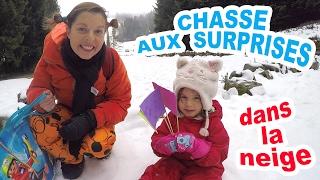 CHASSE AUX SURPRISES - CADEAUX MYSTERES dans la neige ❄️❄️ Vacances au ski