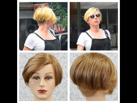 Scarlett Johansson New Undercut Haircut Thesalonguy Youtube