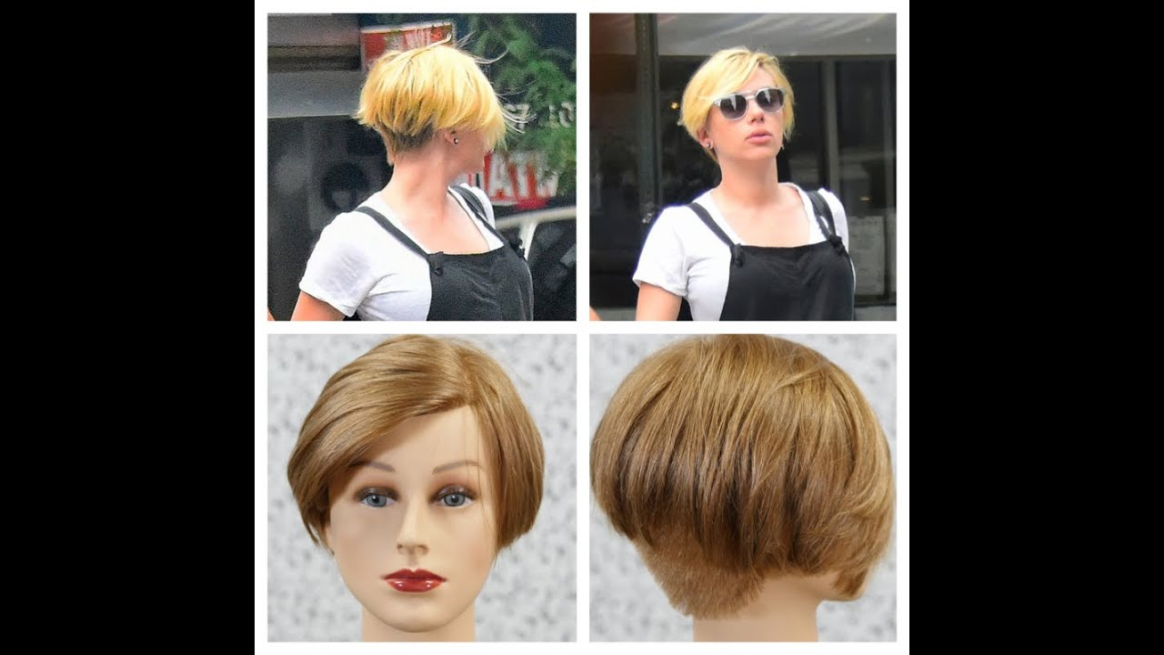 Scarlett Johansson Chops Hair Off Haircut Tutorial Youtube