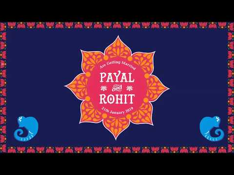 Modern Indian Wedding Invitation Video | Traditional Hindu Invite For Whatsapp