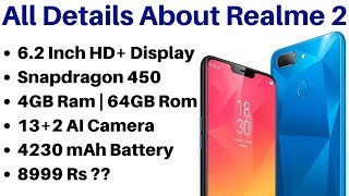 Oppo Realme 2 Smartphones Full Details Specifications and Expected Price In India
