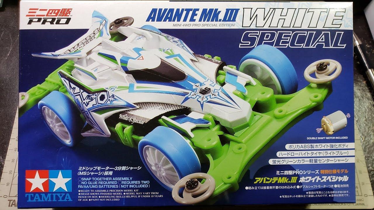 Tamiya Mini Four Wheel Drive Special Products Manta Ray Mk.2 White Special Model Car 95462