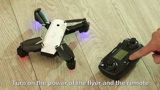SMRC S20 RC Drone Foldable Quadcopter with WIFI 720P 1080P HD Camera FPV GPS Operational video