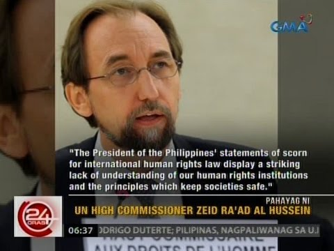 24 Oras: UN High Commissioner On Human Rights, binatikos si Pangulong Duterte