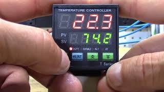 Setting parameters on the MyPin T series PID controller