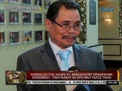 24 Oras: Normalization annex ng Bangsamoro Framework Agreement, tinatalakay sa GPH-MILF Peace Talks