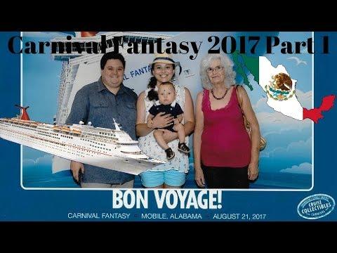 Carnival Fantasy 2017 - Part 1 - Noah's First Vacation - Boarding the Ship/Day at Sea