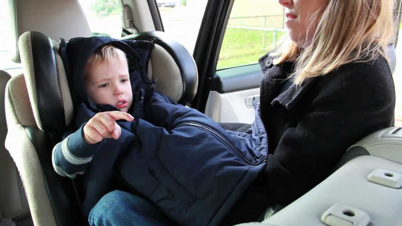 2312d2b52b53 Car Seat Safe Coat - The CozyWoggle - YouTube