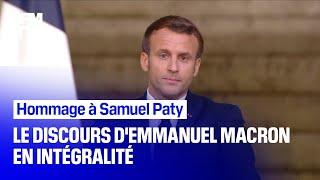 Hommage à Samuel Paty: le discours d'Emmanuel Macron en intégralité