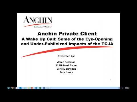 A Wake Up Call: Some of the Eye-Opening and Under-Publicized Impacts of the TCJA