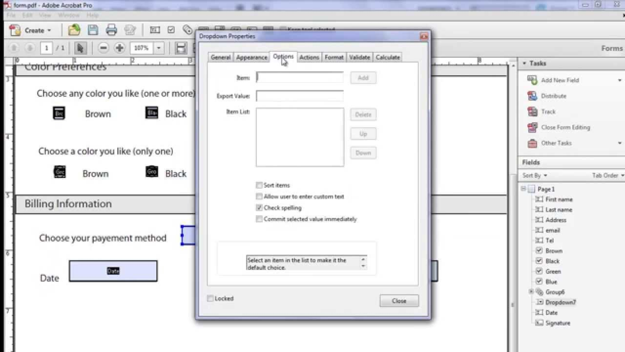 How to Make an Interactive Fillable PDF Form Using Adobe Acrobat X Pro  (Beginners)